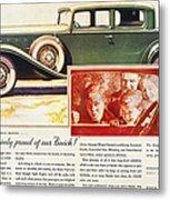 Ads: Buick, 1932 Metal Print