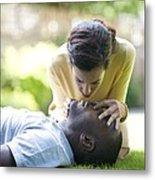 Adult Resuscitation Metal Print