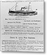 Advertisement: Steamship Metal Print