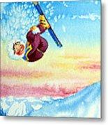 Aerial Skier 13 Metal Print