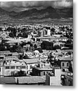 Aerial View From Southern Nicosia Over Northern Turkish Controlled Nicosia In Nicosia Lefkosia Metal Print