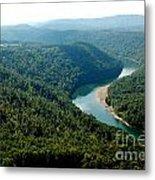 Aerial View Gauley River Metal Print