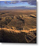 Aerial View Of Chaco Canyon And Ruins Metal Print