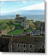 Aerial View Of Dover Castle Metal Print