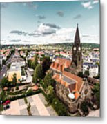Aerial View Of Dresden, Germany Metal Print