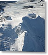 Aerial View Of Glaciated Mount Douglas Metal Print