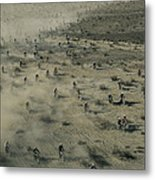 Aerial View Of Hundreds Metal Print