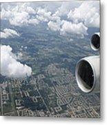 Aerial View Of Landscape Metal Print