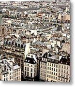 Aerial View Of Paris Metal Print by Landscape and urban landscape