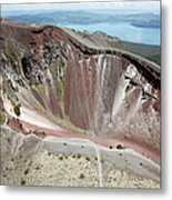 Aerial View Of Rhyolite Dome Complex Metal Print