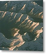 Aerial View Of Snowcapped Mountain Metal Print