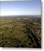 Aerial View Of The Coast Town Of Nadi Metal Print