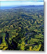 Aerial View Of The Nadi River Winding Metal Print