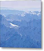 Aerial View Of The Snow-covered Julian Metal Print