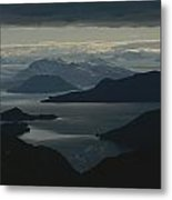 Aerial View Of The Sound Metal Print