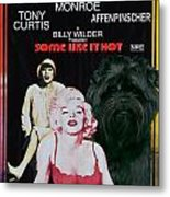 Affenpinscher Some Like It Hot Movie Poster Metal Print