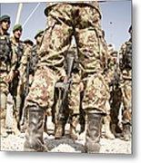 Afghan Air Force Members Get Briefed Metal Print