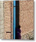 Afghan Girl In Doorway Metal Print