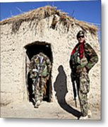 Afghan National Army Soldier Holds Metal Print