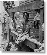 African American Farm Children Metal Print