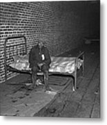 African American Man In Infirmary Metal Print by Everett