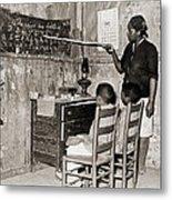 African American Mother Teaching Metal Print by Everett
