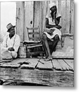 African American Sharecroppers, Titled Metal Print by Everett