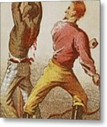 African American Slave Being Whipped Metal Print by Everett