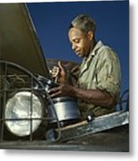 African American Soldier, A Truck Metal Print by Everett