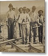 African American Work Team Metal Print by Everett