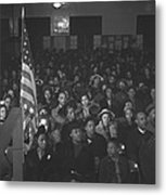 African Americans At A Tenants Meeting Metal Print by Everett