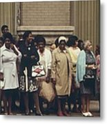 African Americans Mostly Women Waiting Metal Print