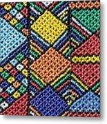African Beadwork 2 Metal Print