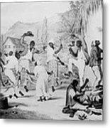 Afro-caribbean Slaves Dancing Metal Print by Everett