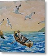 After A Fishing Day Metal Print