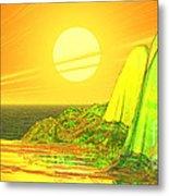 Green Crystal Hills Metal Print