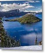Afternoon Clearing At Crater Lake Metal Print