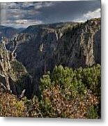 Afternoon Clouds Over Black Canyon Of The Gunnison Metal Print