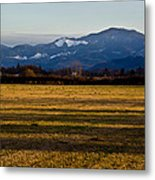 Afternoon Shadows Across A Rogue Valley Farm Metal Print
