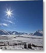 Afternoon Sun Along The Dempster Metal Print