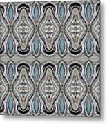 Agate-38e Border Tiled Metal Print