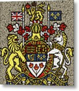 Aged And Cracked Canada Coat Of Arms Metal Print