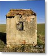 Aged Hut In Auvergne. France Metal Print by Bernard Jaubert