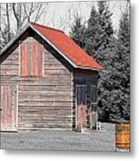 Aging Shed And Barrel Metal Print