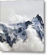 Aiguille Du Midi Out Of Clouds Metal Print
