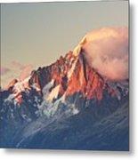 Aiguille Verte With Leeward Clouds Metal Print