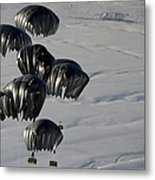 Air Delivery Cargo Is Released Metal Print