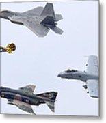 Air Force Heritage Flight Luke Afb March 19 2011 Metal Print