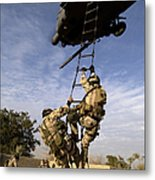 Air Force Pararescuemen Are Extracted Metal Print