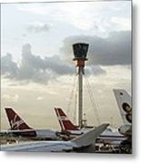 Air Traffic Control Tower, Uk Metal Print by Carlos Dominguez
